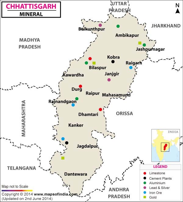 Minerals in Chattisgarh