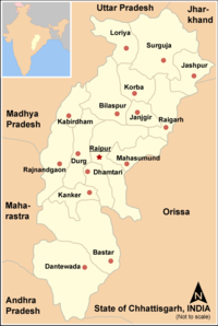 History of modern chattishgarh after independence
